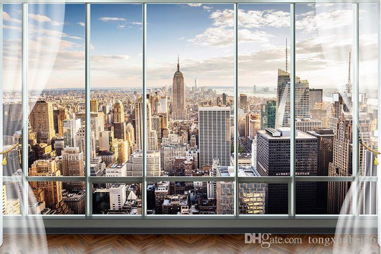 Photo Wallpaper Custom 3D Stereo Latest Outside The Window