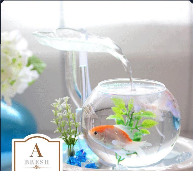 fontaine conduit maison aquarium reservoir d eau cabinet geyser ornements verre en ceramique fontaine bureau