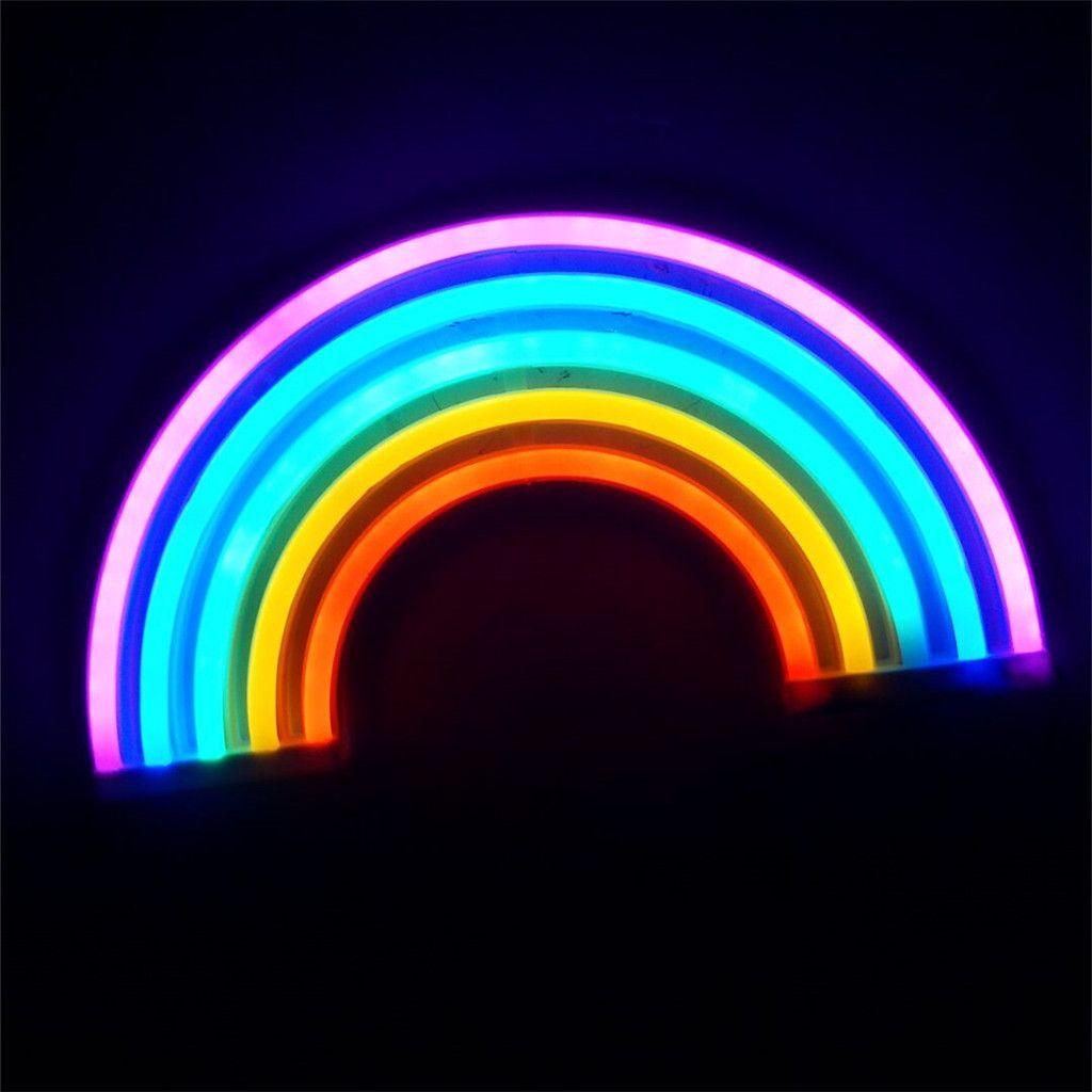 Fashion Colorful Rainbow Led Neon Sign Light Holiday Xmas