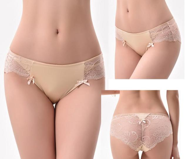 Sexy Lace Panties Women Briefs Seamless Underwear Silk Ladies Transparent Bikini Cotton For Girls Erotic Panty