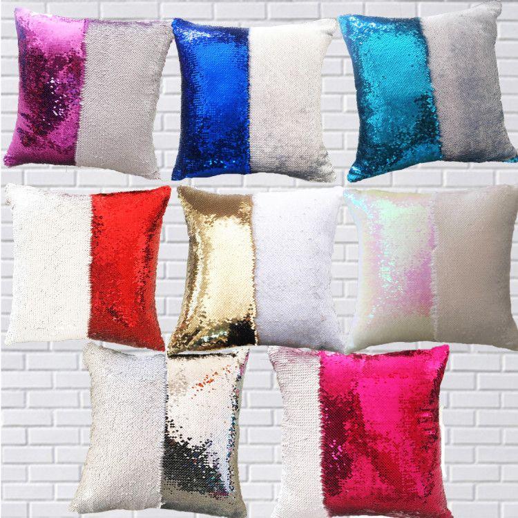 cheap sequins mermaid pillow case