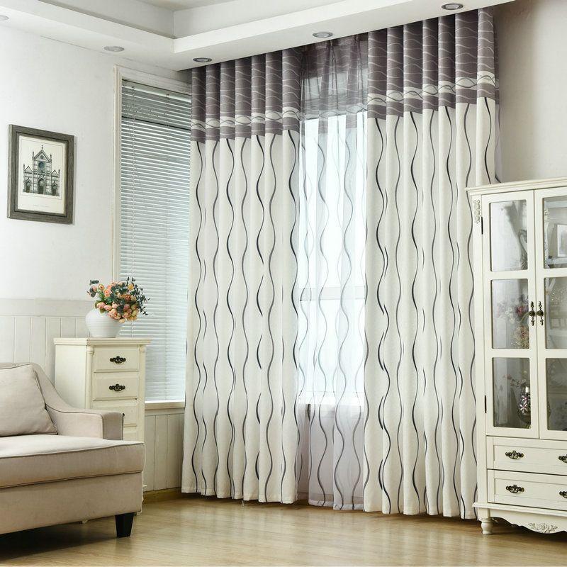 2021 new wavy striped blackout curtain