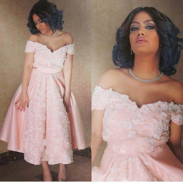 Sexy Homecoming Dresses Off Shoulder Prom Dresses Pink Color Tea Length Satin Evening Cocktail Dresses Applique Embroidery Long Dresses For Juniors Online Shop Dress From Alberta_dress, $69.04Com