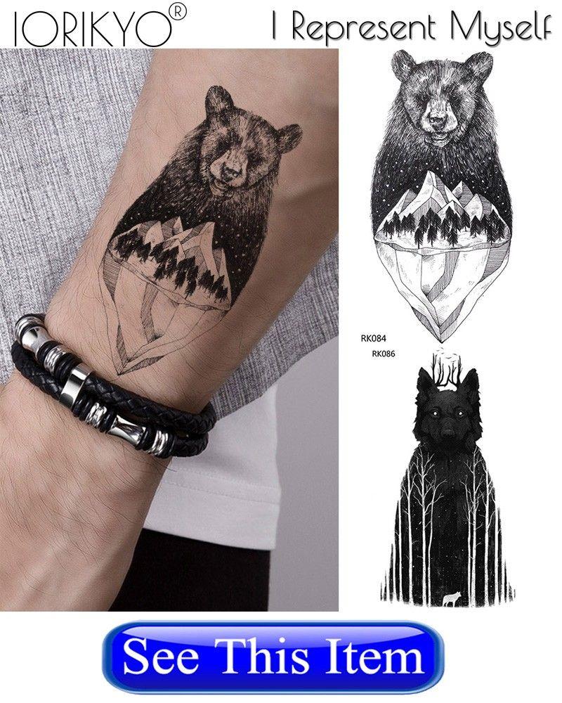 Iorikyo геометрическая мотылек временные татуировки небольшие птицы наклейка