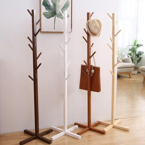 2021 solid wood coat rack modern hanger