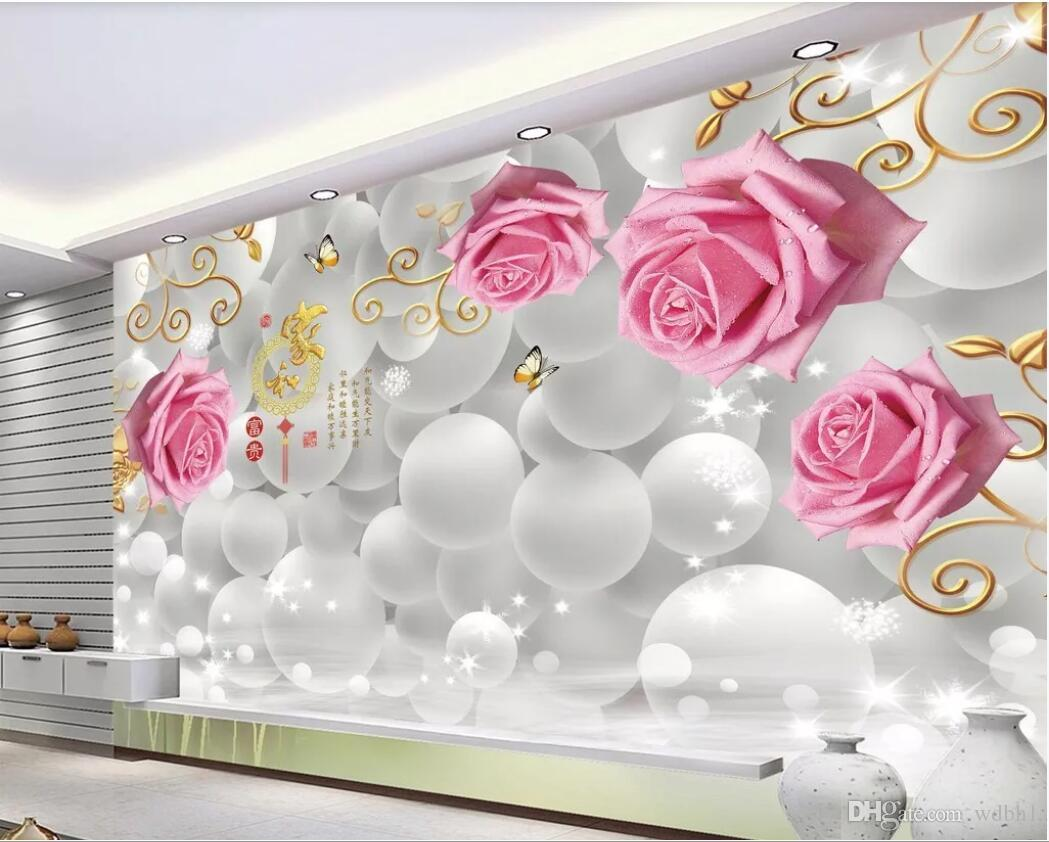 3d Room Wallpaper Custom Photo Mural Rose Modern Stylish 3d Tv Background Wall Wall Art Canvas Pictures Wallpaper For Walls 3 D Wallpapers Free Wallpapers Free Download From Wdbh1 13 38 Dhgate Com