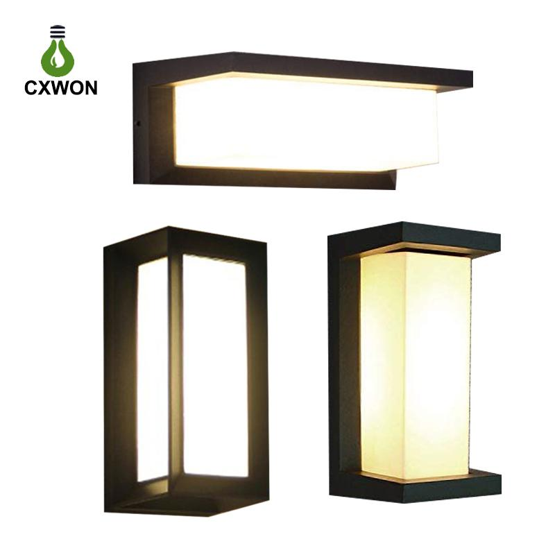 2021 modern outdoor led wall lamps bulb