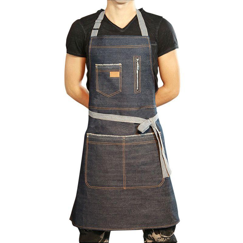 acheter 2019 denim cuisine tablier pour hommes femmes de nettoyage uniformes sans restaurant restaurant tablier de cuisine unisexe tabliers textiles a