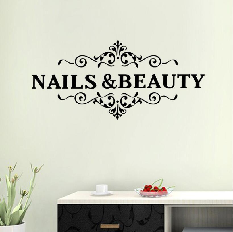 nail beauty shop sticker hair salon