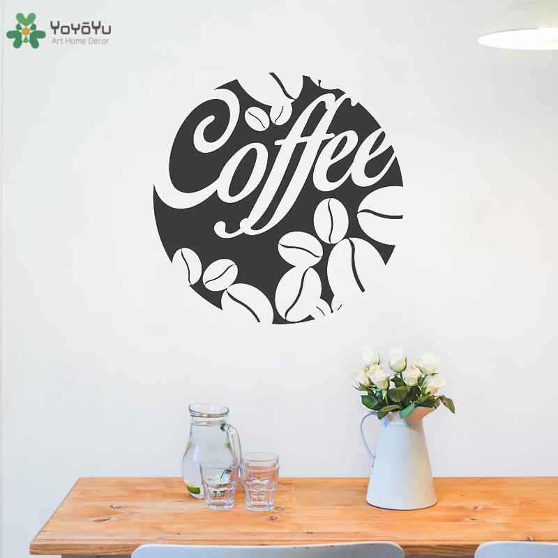 Wall Decal Coffee Beans Sign Vinyl Wall Stickers Cafe Bar Shop Window Decor Removable Waterproof Modern Kitchen Diy Wall Vinyl Decals Wall Vinyl Sticker From Onlinegame 11 67 Dhgate Com