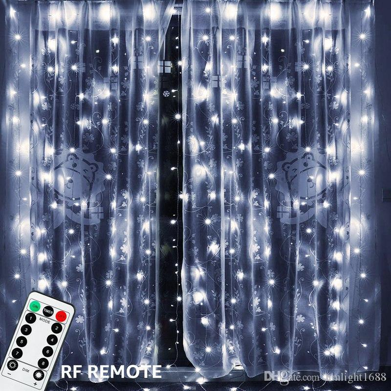 3x3m 300 led copper wire icicle curtain
