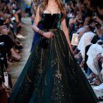 Dark Green Velvet Gown Cheap Online