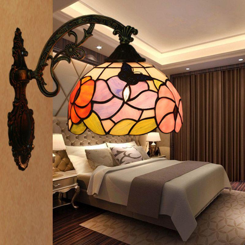 2021 tiffany wall lamp bedroom bedside