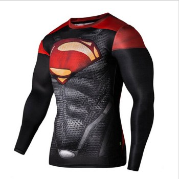 Newest compression tights men gym shirt marvel superhero long sleeve t shirts base layer mens fitness cosplay tees sport clothing