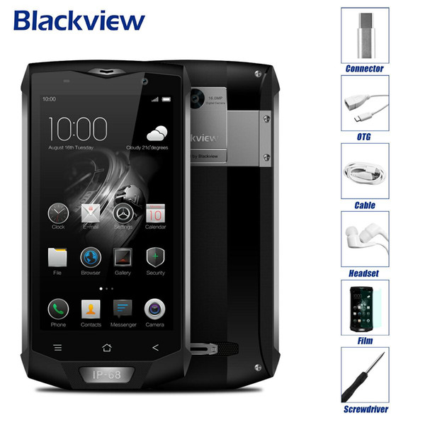 2017 New Blackview BV8000 Pro 4G Waterproof IP68 Mobile Phone 5.0''FHD MTK6757V Octa Core Android 7.0 6GB+64GB 16MP Fingerprint id 4000mAh