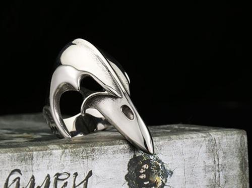 316L Steel Bird Mouth Women Girl Anti Lady Killer Ring Men