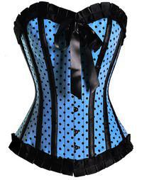 New Sexy Wedding Corset Tops bridal bustier Lingerie with polka dot women's underwear 1 set