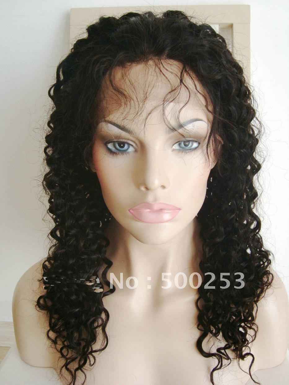 10 24 Inches Virgin Peruvian Human Hair Curly Full Lace