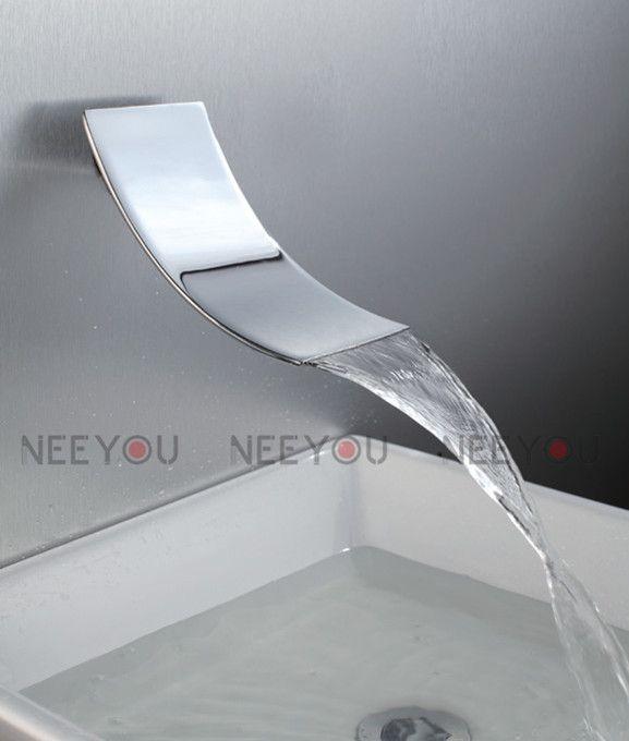 2018 New Design Bathroom Wall Mounted Waterfall Basin