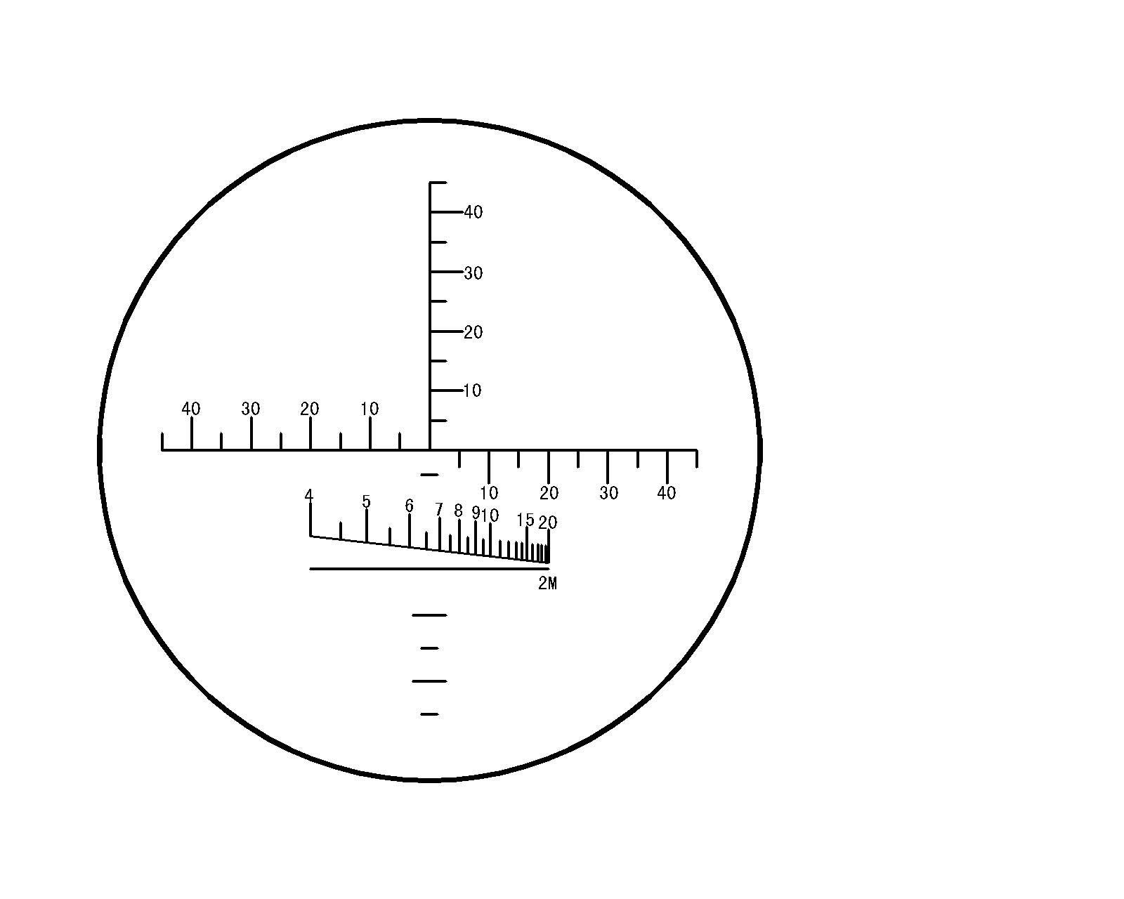 Visionking Fixed Focus Binoculars 10x50 With Buld In Reticle Range Finder Binocular Children