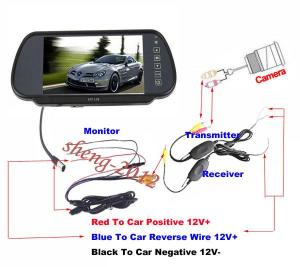 2019 7 LCD MONITORWIRELESS REVERSE CAMERA CAR REAR VIEW WIRELESS 24 G CAMERA Kelisha From
