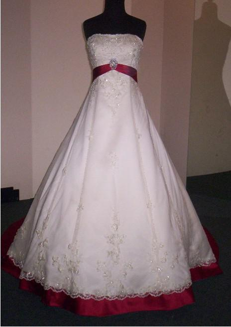 Discount Brand New Sexy WhiteRed Rose Strapless Court