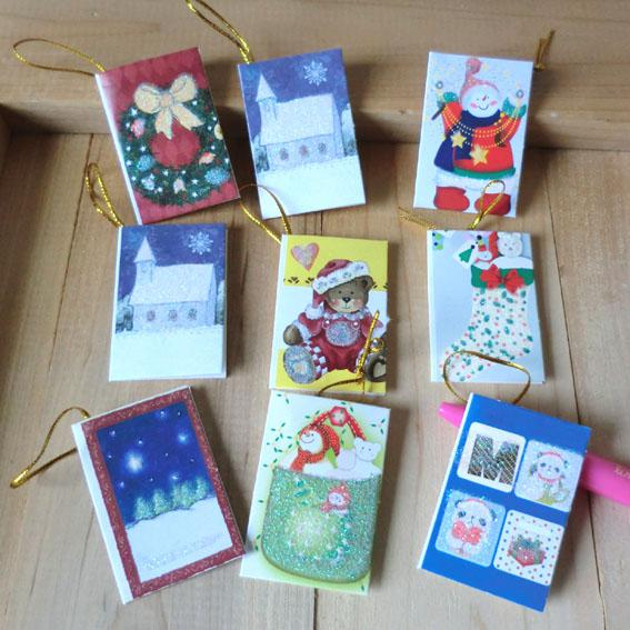 2012 New Beautiful Small Christmas Cartoon CardsBirthday