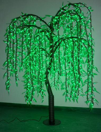 2019 Top Quality 16m Green LED Weeping Willow Tree Lights