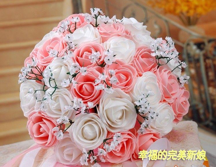 Beautiful Wedding Bouquet Artificial 30 Rose Flowers