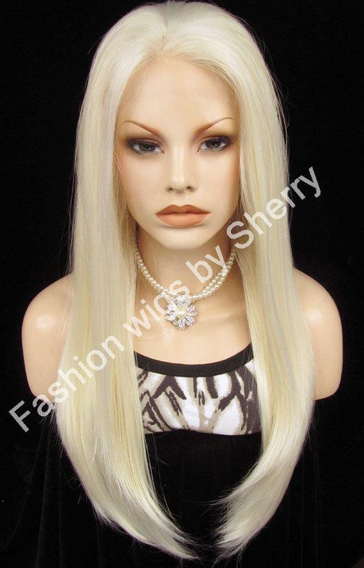 24 Long 1001613 White Blonde Silky Straight 150 Density