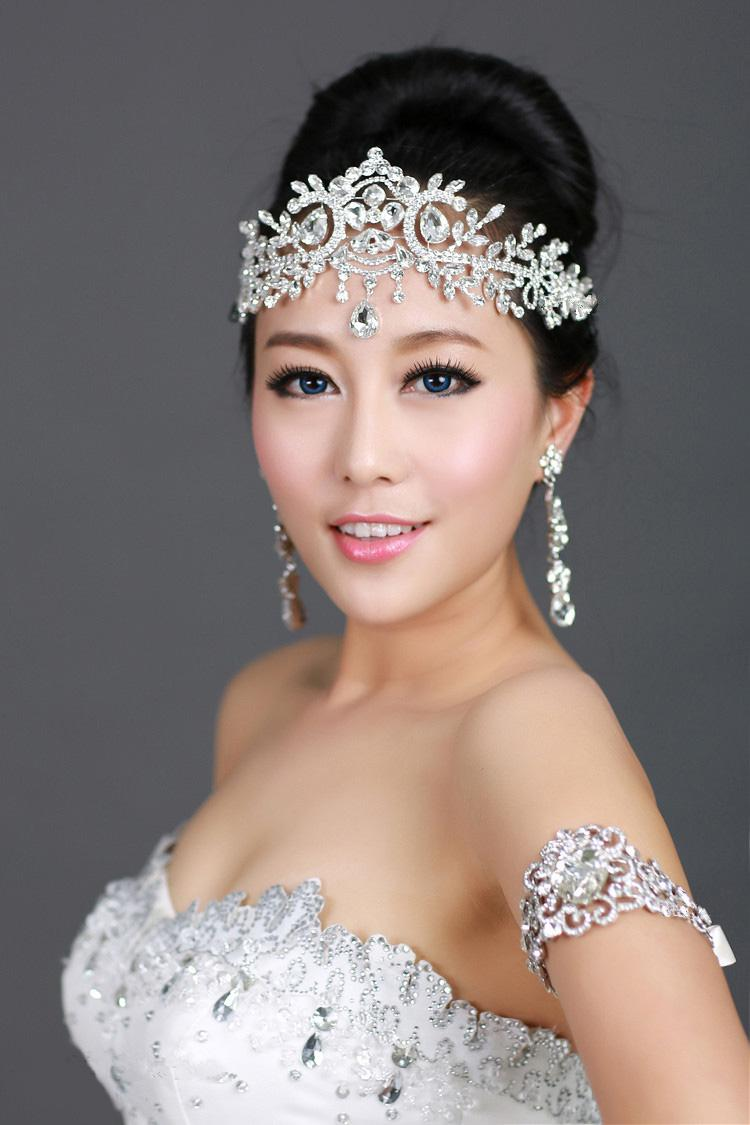New Arrival Bling Bling Silver Plated Crystal Crown