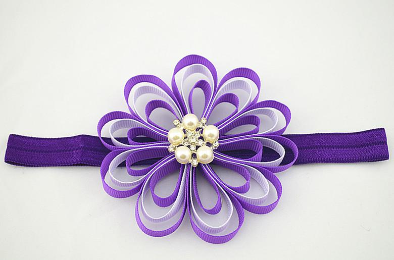 Trail Order 4  Grosgrain Ribbon Flowers Headbands Girls Party Satin     Trail Order 4  Grosgrain Ribbon Flowers Headbands Girls Party Satin Ribbon  Flower Princess Hairband Hair Accessories Hair Accessories Wholesale Unique  Hair