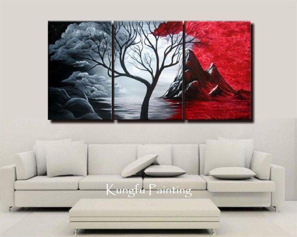 2019 100% Handmade Tree Oil Goods Modern Abstract Canvas