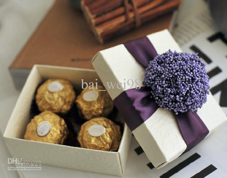 New Arrival Purple Lavender Wedding Favors Candy Box