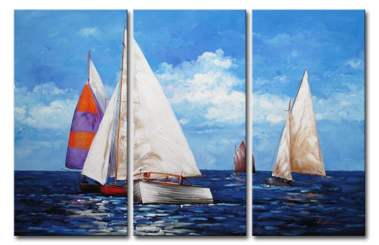 2019 Modern Abstract Artwork The Sailboat On The Sea Wall Decor Oil Painting On Canvas 100 Hand