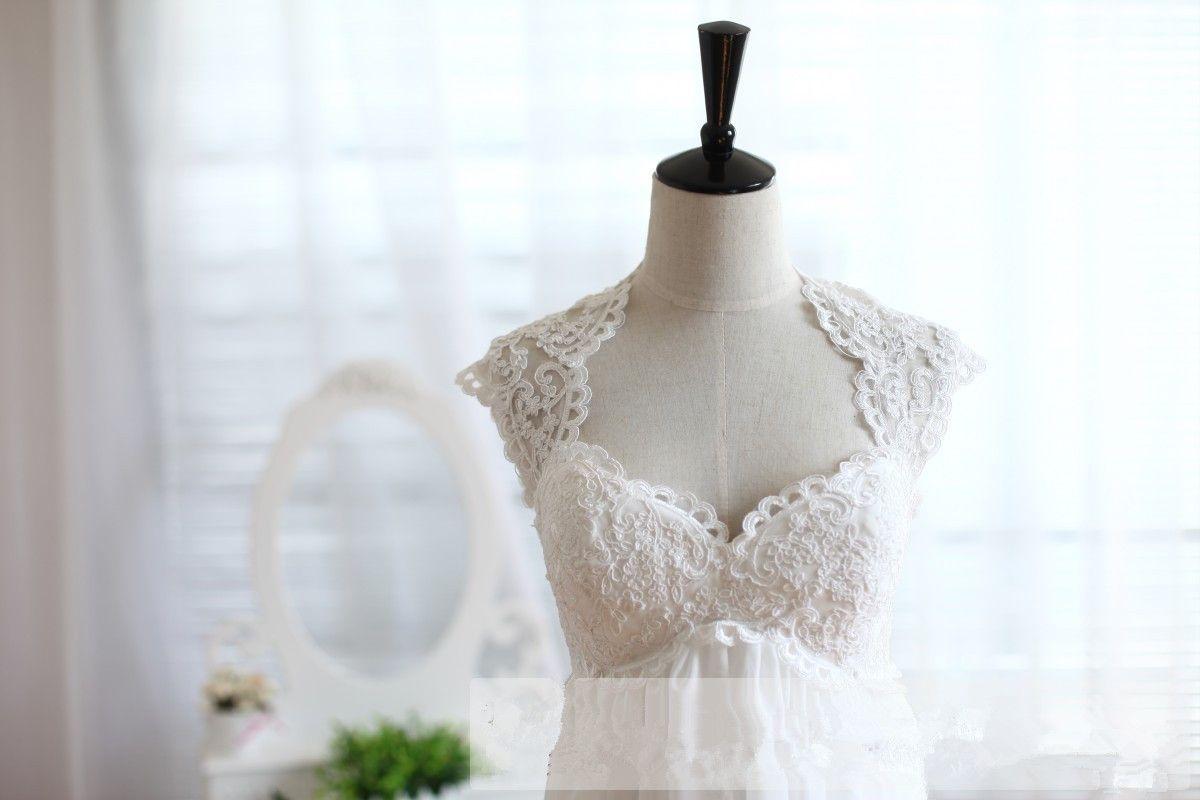 Custom Vintage Sweetheart Keyhole Back Empire Waist Dress