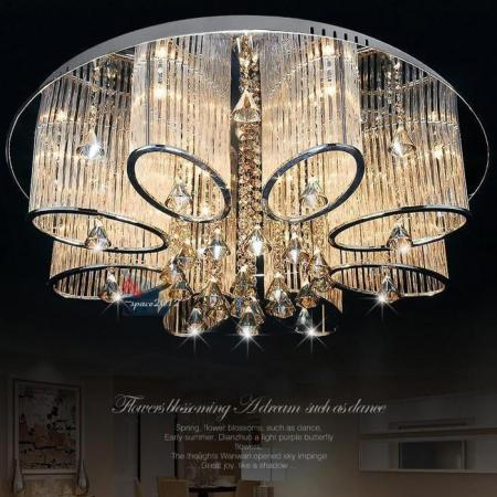 Stock In US New Modern Chandelier Living Room Ceiling Light Lamp     Stock In US New Modern Chandelier Living Room Ceiling Light Lamp Fixture  Crystal Lighting LED LIGHTS Crystal Chandelier Celling Lights Online with