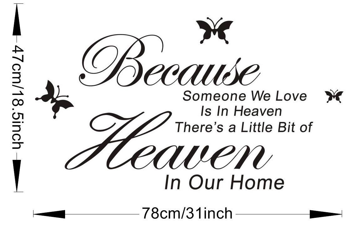 Download Because Someone We Love Is In Heaven Vinyl Wall Lettering ...