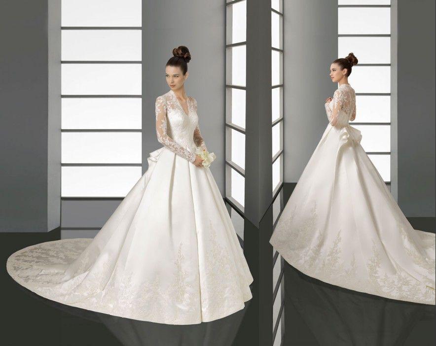 Big Discount Elie Saab Princess Kate V Neck Chapel Train