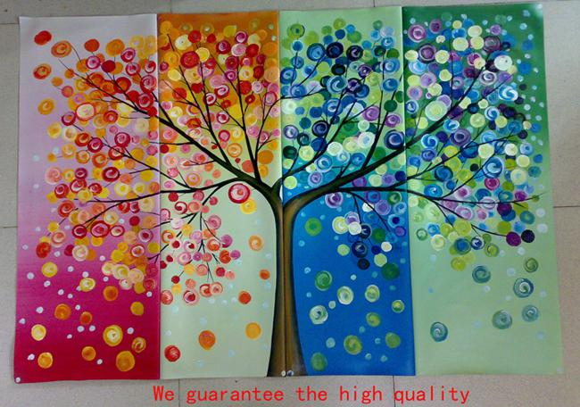 2018 100%hand Painted Oil Painting Colorful Wall Art