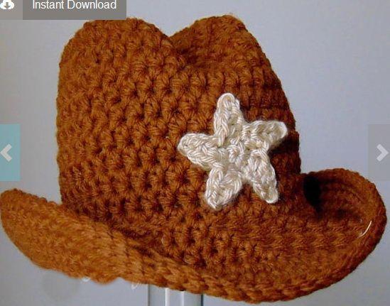 cowboy hat crochet sombrero vaquero pattern # 25