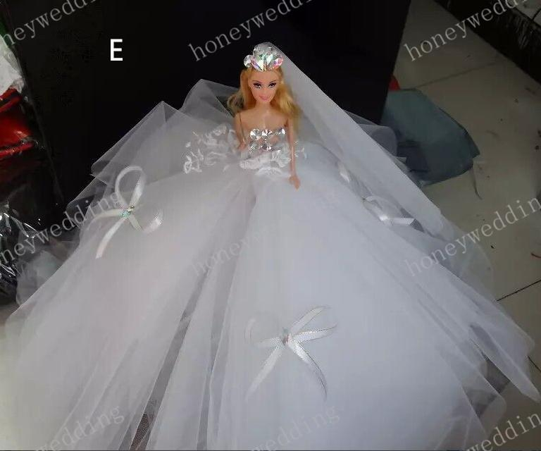 Sparkle 2015 Wedding Decorations Barbie Dolls White And
