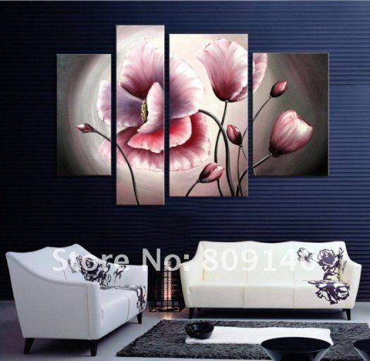 Flower Oil Painting Contemporary Abstract Art Canvas Hand Painted Modern Home Office Hotel Wall Decor Artwork Free Shipping