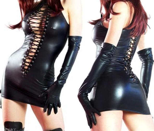 Falltonight Store Black Pvc Lace Up Sexy Clubwear Dress Outfits Lingerieaucsearchbutton Width Auto Overflow Visible Padding 0 6px