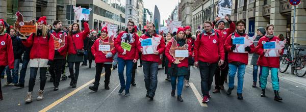 """Berlin 18.01.2020: VIER PFOTEN demonstriert bei """"Wir haben es satt!"""""""