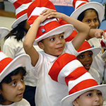 students at Read Across event