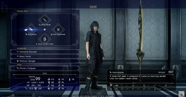 How To Get Ultimate Weapons For Final Fantasy XV End G