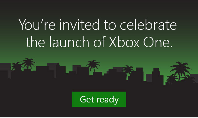 You're invited to celebrate the launch of Xbox One.