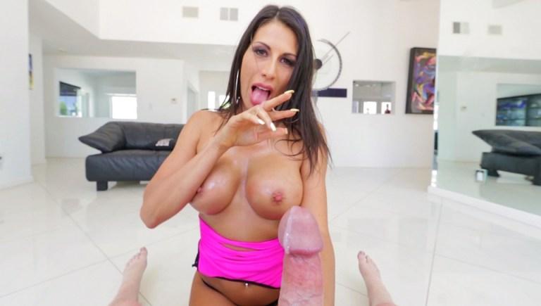 Dirty-Talking Makayla's Titty Creampie