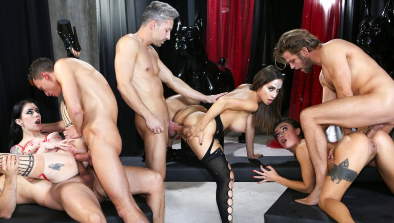 Rocco's Game Of Whores Scene 2: Orgy!